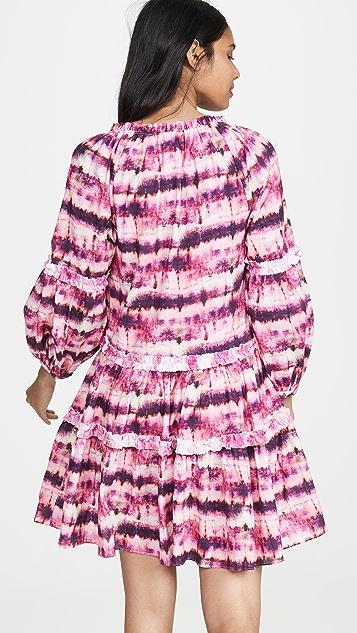 Valencia & Vine Платье, окрашенное в технике узелкового батика