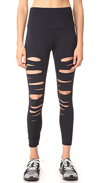 Onzie High Rise Shred Midi Leggings