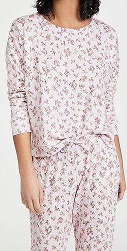 Onzie - 高低不对称下摆花卉运动衫