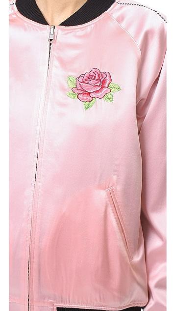 Opening Ceremony Silk Varsity Jacket