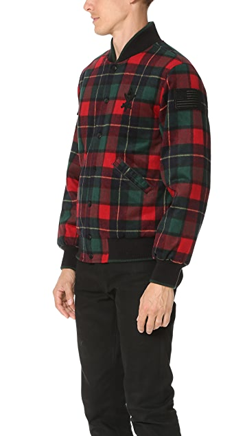 Opening Ceremony Plaid OC Varsity Jacket