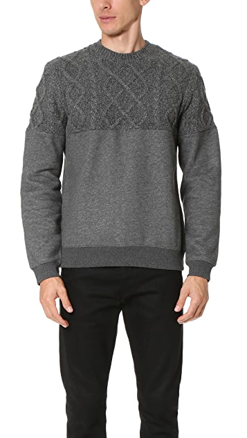 Opening Ceremony Cable Knit Sweatshirt