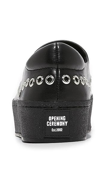 Opening Ceremony Cici Metal Platform Slip On Sneakers