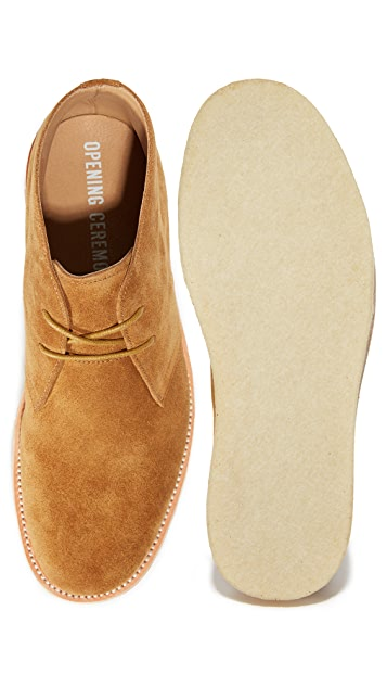 Opening Ceremony Leoh Suede Crepe Chukka Boots