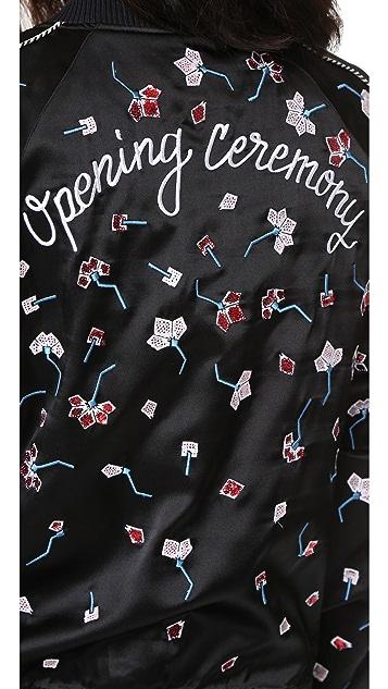 Opening Ceremony Embellished Silk Bomber