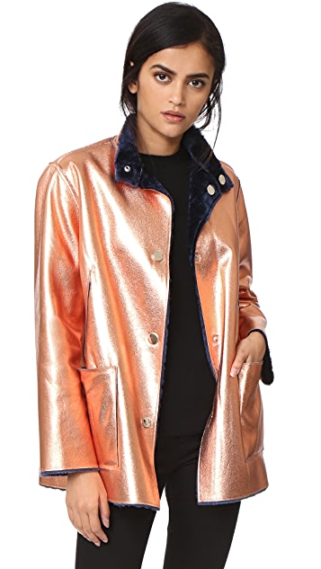 3c51bf4ab782 Opening Ceremony Faux Fur Reversible Culver Coat