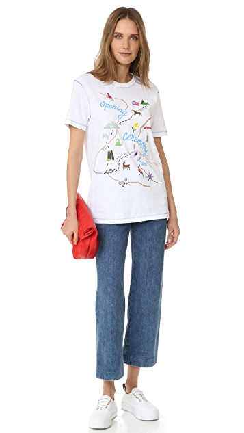 Opening Ceremony Embroidered Map Tee