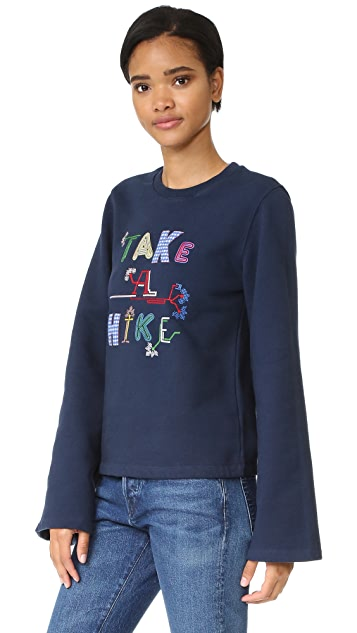 Opening Ceremony Take A Hike Bell Sleeve Sweatshirt
