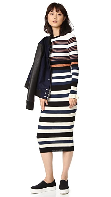 Opening Ceremony Striped Maxi Dress