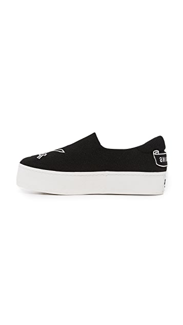 Opening Ceremony Cici Varsity Slip On Sneakers