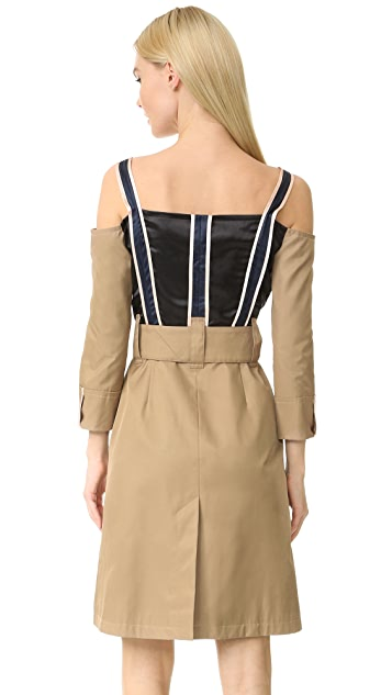 Opening Ceremony Inside Out Trench Dress