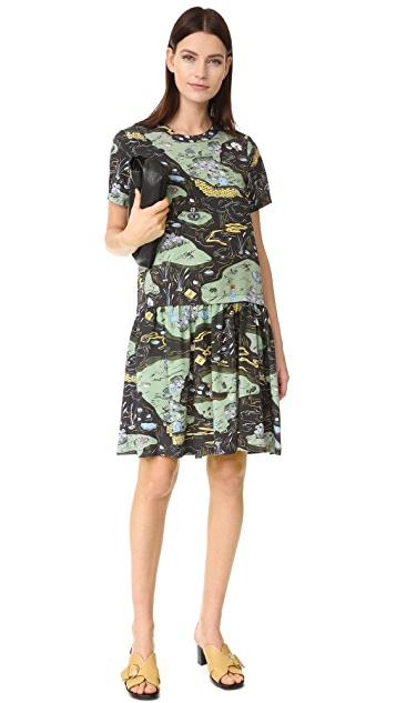 Opening Ceremony Story Toile Mazie Dress