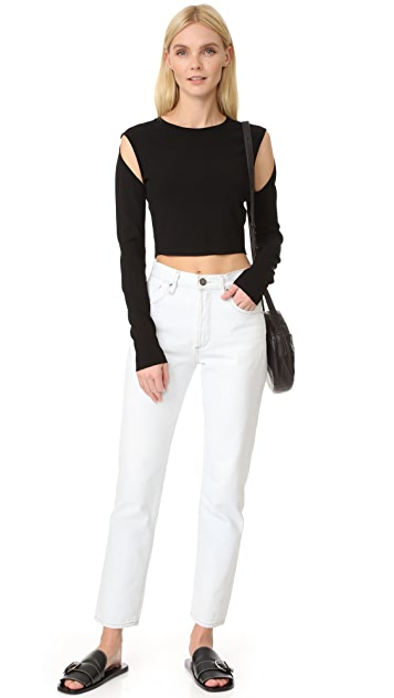 Opening Ceremony Long Sleeve Crop Top