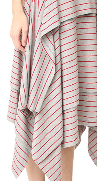 Opening Ceremony Stripe Tiered Short Long Dress