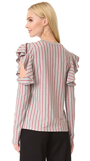 Opening Ceremony Stripe Long Sleeve Tee