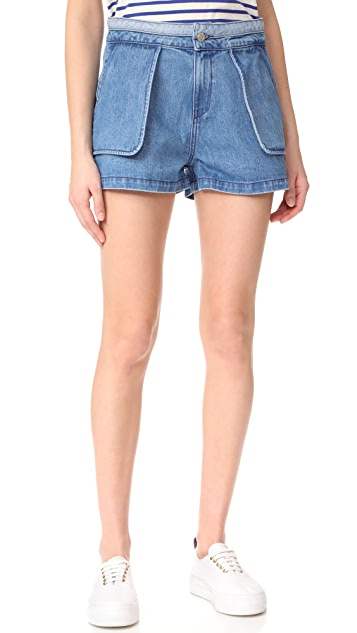 Opening Ceremony Denim Inside Out Shorts