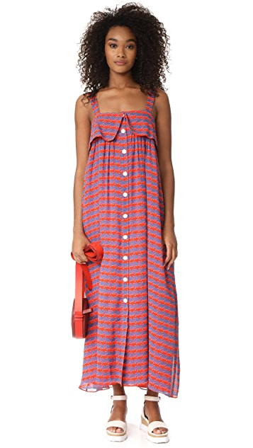Opening Ceremony French Cuff Maxi Dress