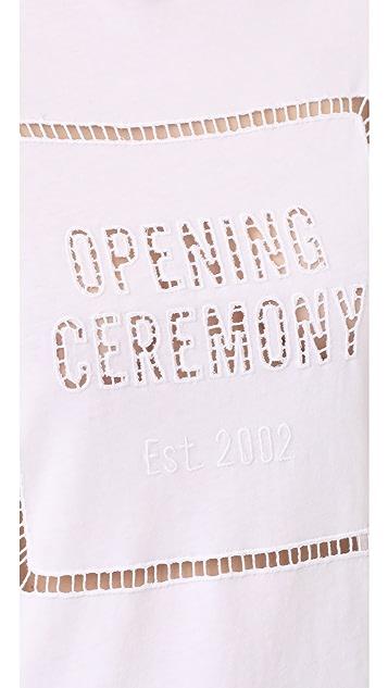 Opening Ceremony OC Logo Eyelet Tee