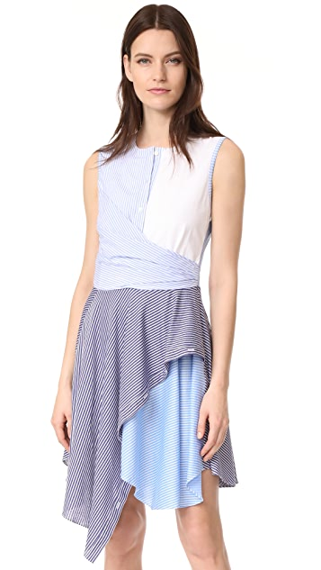 Opening Ceremony Cody Stripe Flare Dress
