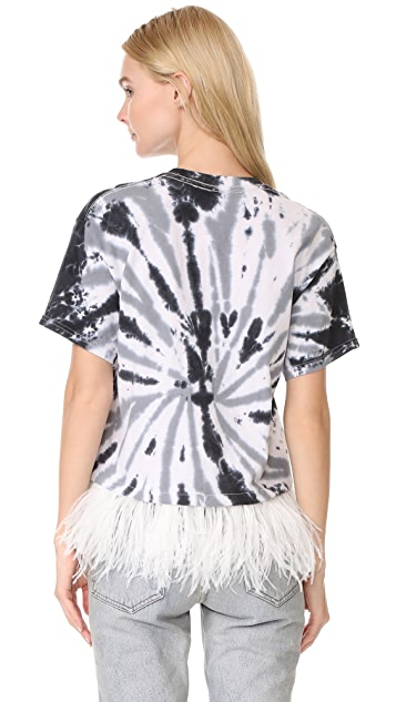 Opening Ceremony Cropped Feather Tee