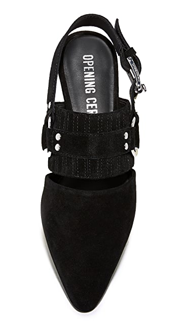 Opening Ceremony Alexx Suede Harness Flats