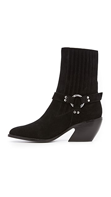 Opening Ceremony Shayenne Suede Harness Ankle Booties