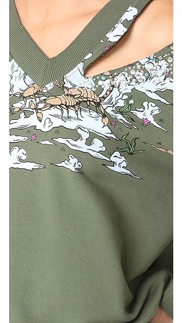 Opening Ceremony Landscape V Neck Sweatshirt