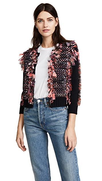 Opening Ceremony Woven Plaid Cardigan