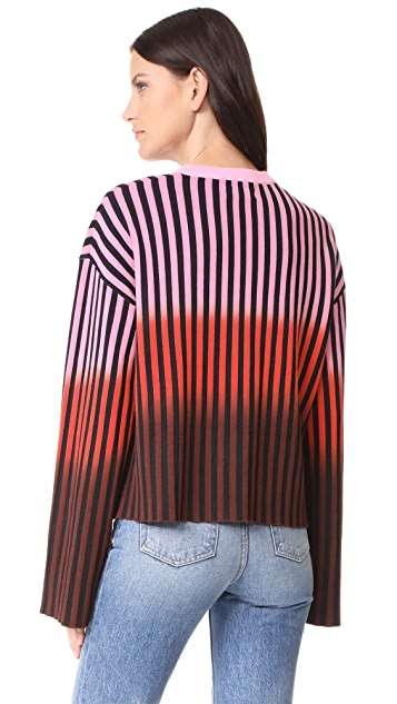 Opening Ceremony Dip Dye Striped Sweater