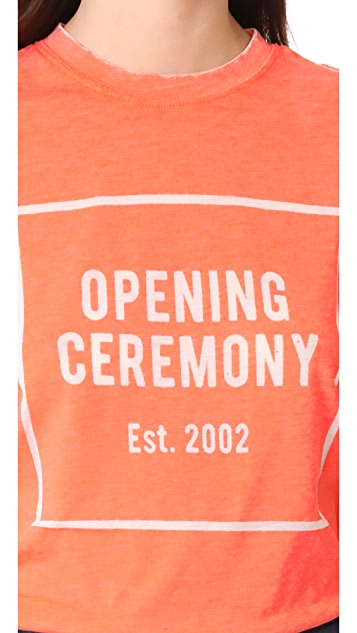 Opening Ceremony OC Logo Burnout Tee
