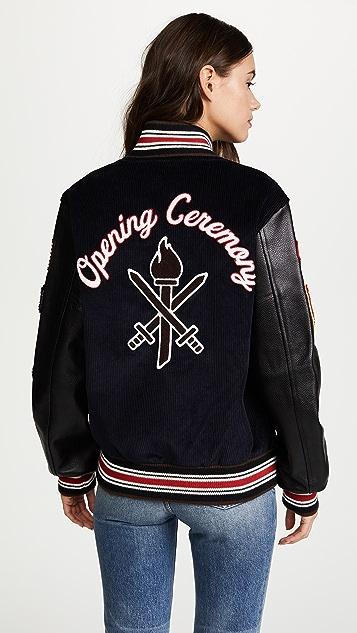 Opening Ceremony Corduroy Varsity Jacket