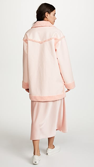 Opening Ceremony Reversible Patent Pink Coat