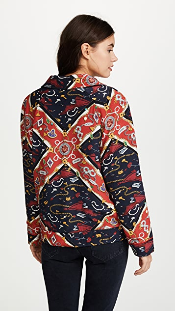 Opening Ceremony Sorority Print Reversible Knit Jacket
