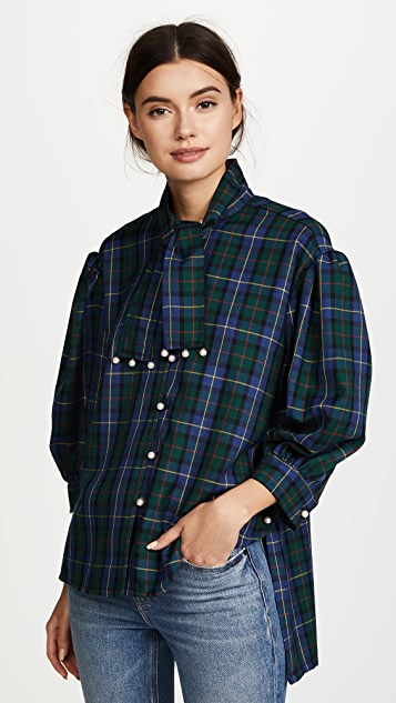 Opening Ceremony Tartan Button Down Shirt