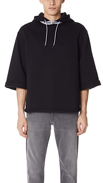 Opening Ceremony OC Banded Short Sleeve Hoodie