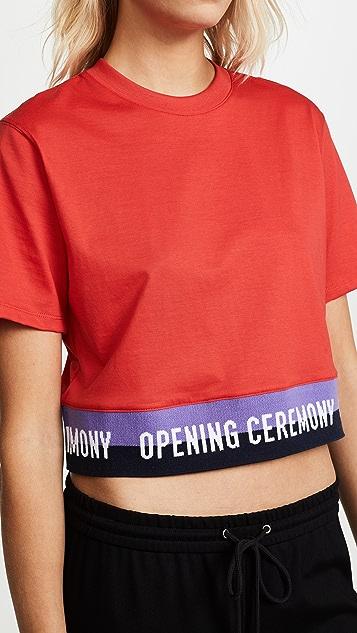 Opening Ceremony Elastic Logo Crop Tee