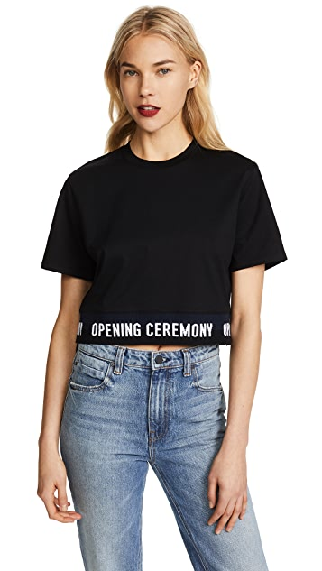 Opening Ceremony Elastic Logo S/S Tee