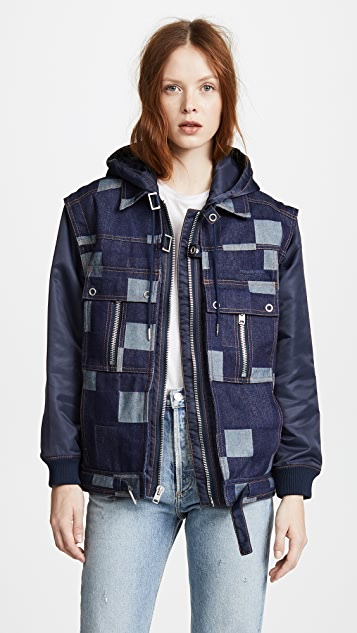 Opening Ceremony Denim Nylon Jacket
