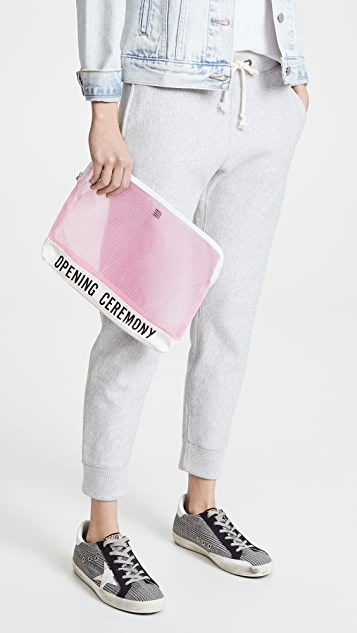 Opening Ceremony Clear PVC Clutch
