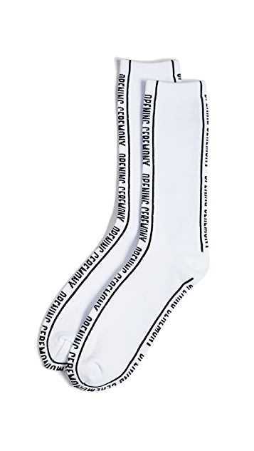 Opening Ceremony Jacquard Logo Socks