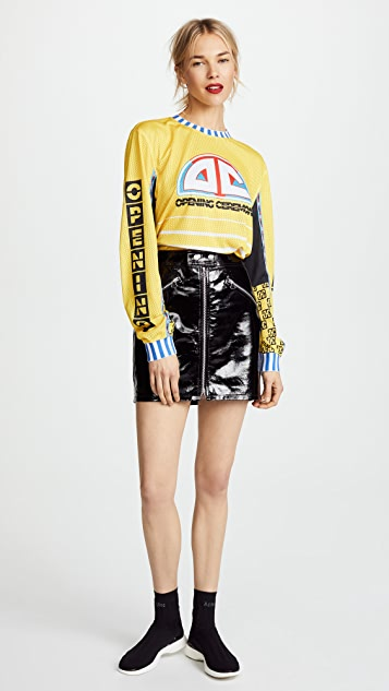 Opening Ceremony Moto Mesh Long Sleeved Tee
