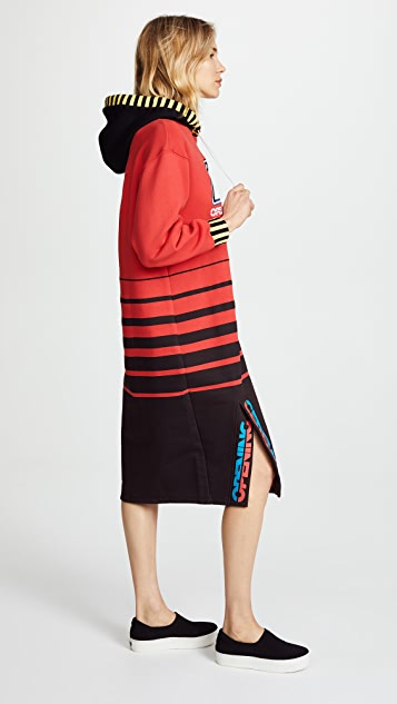 Opening Ceremony Hooded Sweatshirt Dress