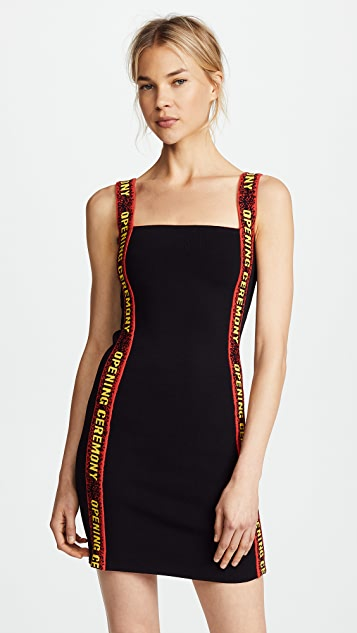 Opening Ceremony Mini Dress with Elastic Logo