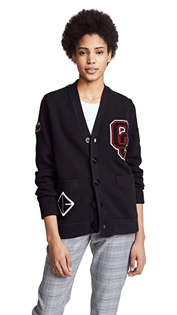 Opening Ceremony Varsity Cotton Cardigan