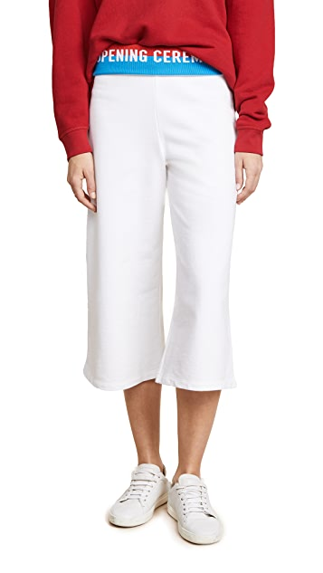 Opening Ceremony Cropped Flared Sweatpants with Elastic Logo