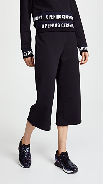 Opening Ceremony Cropped Flared Sweatpants - Black