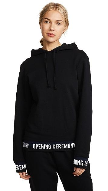 Opening Ceremony Elastic Logo Hoodie