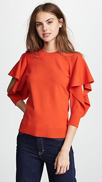 Opening Ceremony Flounce Sleeve Top