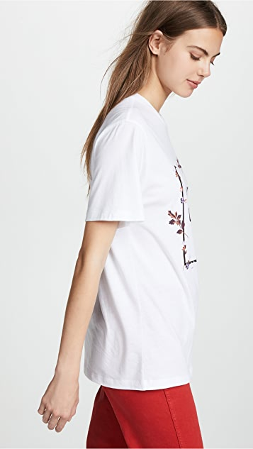 Opening Ceremony Box Logo Floral Tee