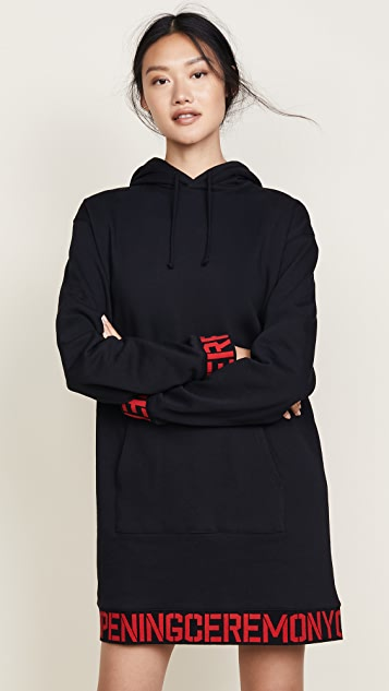 Opening Ceremony Elastic Logo Hoodie Dress